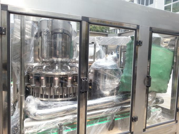 3 In 1 PET Bottled Automatic Liquid Filling Machine 0.6MPa Air Consumption
